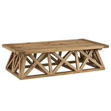 Camp Wood Coffee Table, Brown, Wood 11723
