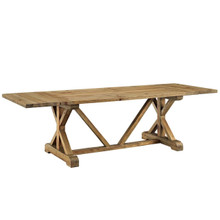 Den Extendable Wood Dining Table, Brown, Wood 11725