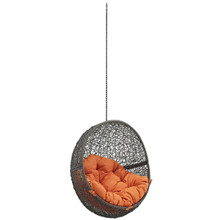 Hide Outdoor Patio Swing Chair Without Stand, Orange, Rattan 11732