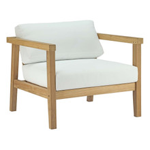 Bayport Outdoor Patio Teak Armchair, White, Wood 11775