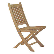 Marina Outdoor Patio Teak Folding Chair, Brown, Wood 11782