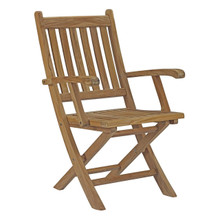 Marina Outdoor Patio Teak Folding Chair, Brown, Wood 11783
