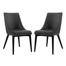 Viscount Dining Side Chair Vinyl, Black, Faux Leather 11853