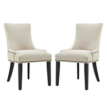 Marquis Dining Side Chair Fabric Set of 2, Beige, Fabric 11867