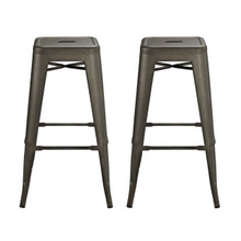 Promenade Bar Stool, Brown, Metal 11929