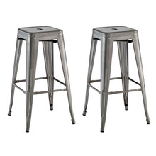 Promenade Bar Stool, Silver, Metal 11930