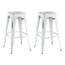 Promenade Bar Stool, White, Metal 11931