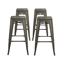 Promenade Bar Stool Set of 4, Brown, Metal 11933