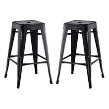 Promenade Counter Stool Set of 2, Black, Metal 11936