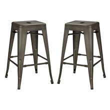 Promenade Counter Stool Set of 2, Brown, Metal 11937