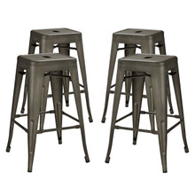 Promenade Counter Stool Set of 4, Brown, Metal 11941