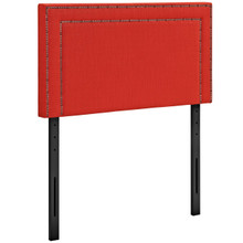 Jessamine Twin Upholstered Fabric Headboard, Red, Fabric 12061