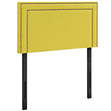 Jessamine Twin Upholstered Fabric Headboard, Yellow, Fabric 12066