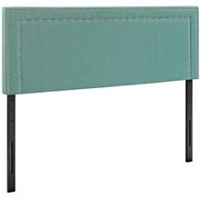 Jessamine Queen Upholstered Fabric Headboard, Blue, Fabric 12079