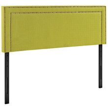 Jessamine Queen Upholstered Fabric Headboard, Green, Fabric 12081