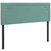 Josie Full Upholstered Fabric Headboard, Blue, Fabric 12162