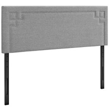 Josie Full Upholstered Fabric Headboard, Grey, Fabric 12163