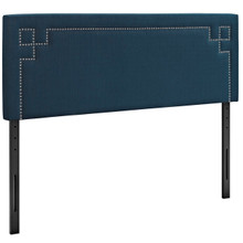 Josie King Upholstered Fabric Headboard, Navy, Fabric 12174