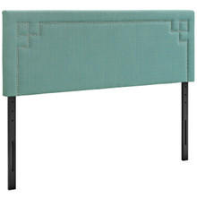 Josie King Upholstered Fabric Headboard, Blue, Fabric 12176