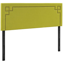 Josie King Upholstered Fabric Headboard, Green, Fabric 12178
