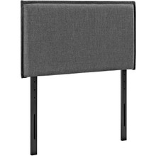 Camille Twin Upholstered Fabric Headboard, Grey, Fabric 12181