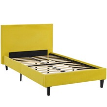 Anya Twin Bed, Yellow, Fabric 12207