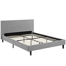 Anya Full Fabric Bed, Grey, Fabric 12213