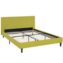 Anya Full Fabric Bed, Green, Fabric 12214