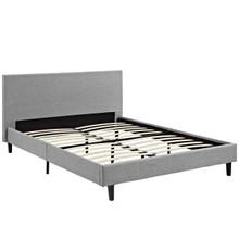 Anya Queen Bed, Grey, Fabric 12220