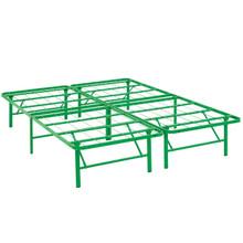 Horizon Full Stainless Steel Bed Frame, Green, Metal 12253