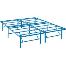 Horizon Full Stainless Steel Bed Frame, Blue, Metal 12255
