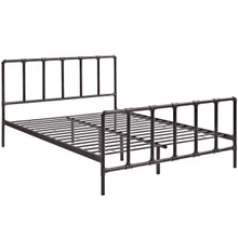 Dower Full Bed, Brown, Metal 12292