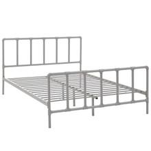 Dower Full Bed, Grey, Metal 12293