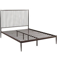 Annika Queen Platform Bed, Brown, Metal 12385