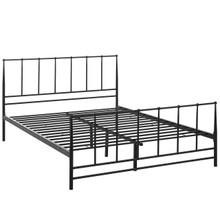 Estate Queen Bed, Brown, Metal 12394