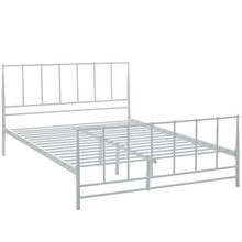 Estate Queen Bed, White, Metal 12396