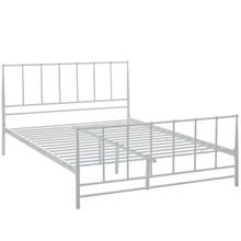 Estate King Bed, White, Metal 12399