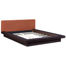 Freja Queen Fabric Platform Bed, Orange, Fabric 12991