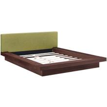 Freja Queen Fabric Platform Bed, Green, Fabric 12994