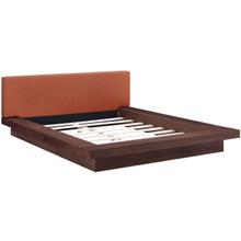 Freja Queen Fabric Platform Bed, Orange, Fabric 12997
