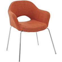 Cordelia Dining Armchair, Orange, Fabric 13056