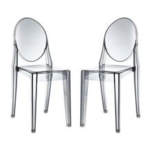 Casper Dining Chairs Set of 2, Grey, Plastic 13066