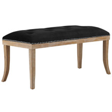 Expression Upholstered Fabric Bench, Black, Fabric 13115