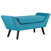 Gambol Upholstered Fabric Bench, Blue, Fabric 13121