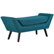 Gambol Upholstered Fabric Bench, Fabric, Blue 13122
