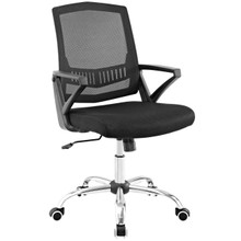 Proceed Mid Back Upholstered Fabric Office Chair, Black, Fabric 13153
