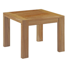 Upland Outdoor Patio Wood Side Table, Brown, Wood 13166
