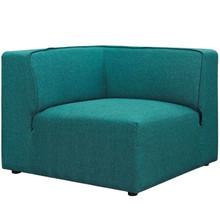 Mingle Corner Sofa , Blue, Fabric 13197