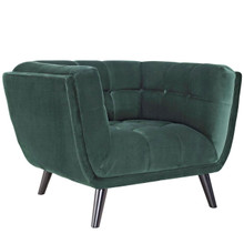 Bestow Velvet Armchair, Green, Fabric 13202