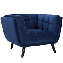 Bestow Velvet Armchair, Navy, Fabric 13204